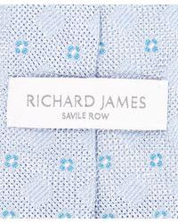 Richard James - Blue Four Spot Tie for Men - Lyst