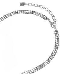 DANNIJO - Metallic Oxidised Silver-plated Harper Tassel Necklace - Lyst