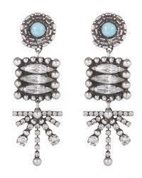 DANNIJO | Metallic Silver-plated Pari Long Drop Earrings | Lyst