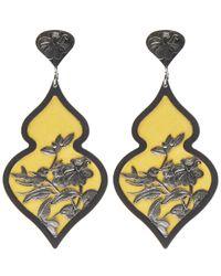 Anna E Alex | Yellow Silver Giardino Velvet Earrings | Lyst
