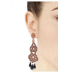 Anna E Alex | Black Burnished Silver Giardino Velvet Earrings | Lyst
