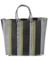 Truss | Yellow Medium Woven Stripe Tote Bag | Lyst