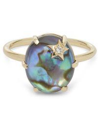 Andrea Fohrman | Metallic Gold And Mother Of Pearl Quartz Diamond Ring | Lyst