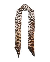 Rockins Multicolor Leopard's Teeth Super Skinny Silk Scarf