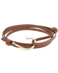 Miansai - Brown Hook On Leather Bracelet - Lyst