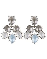 Larkspur & Hawk - Metallic Caterina Rhodium-dipped Quartz Earrings - Lyst