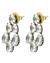 Larkspur & Hawk - Multicolor Silver Caterina White Quartz Swag Earrings - Lyst