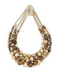 Rosantica - Metallic Incanto Brass Bead Necklace - Lyst