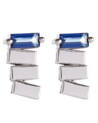 Suzanne Kalan - Multicolor 14ct White Gold English Blue Topaz Earrings - Lyst