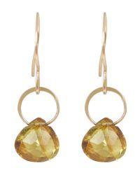 Melissa Joy Manning - Metallic Small Gold And Tourmaline Drop Earrings - Lyst