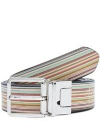 Paul Smith - Multicolor Multi Stripe Reversible Cut To Fit Belt - Lyst