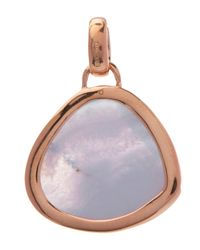 Monica Vinader - Purple Rose Gold-plated Blue Lace Agate Bezel Siren Pendant - Lyst