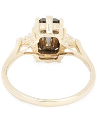 Anna Sheffield - Metallic Gold Bea Black Diamond Three Stone Ring - Lyst