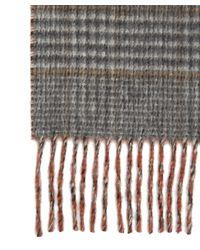 Johnstons - Multicolor Cashmere Reversible Check Scarf for Men - Lyst
