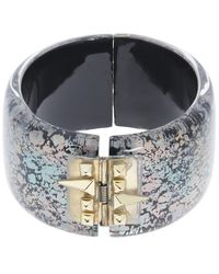 Alexis Bittar | Multicolor Abalone Patterned Lucite Cuff Bracelet | Lyst