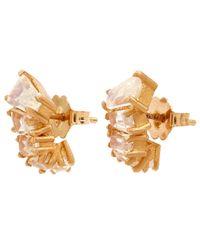 Nak Armstrong - Metallic Rose Gold Rainbow Moonstone Ear Jacket Earrings - Lyst