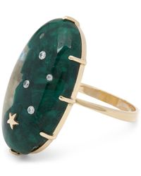 Andrea Fohrman - Metallic Gold Large Oval Dioptase Quartz Star One-of-a-kind Ring - Lyst