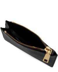 Marc Jacobs - Black Grained Leather Top Zip Wallet - Lyst