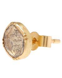 Brooke Gregson - Metallic Gold Orbit Diamond Slice Stud Earrings - Lyst