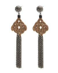 Anna E Alex - Multicolor Silk Passementarie Chain Tassel Earrings - Lyst