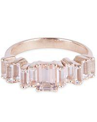 Suzanne Kalan - Multicolor Rose Gold Morganite Topaz Ring - Lyst