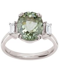 Dinny Hall - Metallic White Gold Grace Kelly Tourmaline And Diamond Ring - Lyst