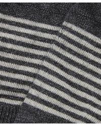 Pantherella - Gray Core Sienna Stripe Egyptian Cotton Socks for Men - Lyst