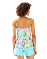 Lilly Pulitzer | Blue Abena Top | Lyst
