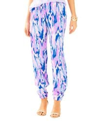 Lilly Pulitzer - Blue Saffron Printed Pant - Lyst