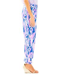 Lilly Pulitzer | Blue Saffron Printed Pant | Lyst