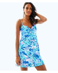 afbae34cea624 Lyst - Lilly Pulitzer Margarete Cover Up in Blue