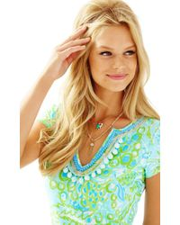 Lilly Pulitzer - Metallic Hooked You In Double Layer Necklace - Lyst