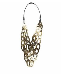 Monies - Metallic Multiple Strings Gilded Copper Necklace - Lyst