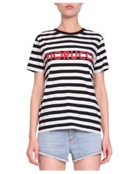 267cbac6fcf Lyst - Fiorucci Striped Logo Cotton T-shirt