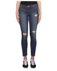 FRAME - Blue Walford Destroyed Skinny Jeans - Lyst