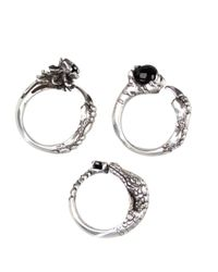 KD2024 - Black Onyx And Silver Kaiman Ring Set - Lyst