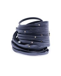 Linea Pelle | Blue Double Wrap Sliced Studded Bracelet | Lyst
