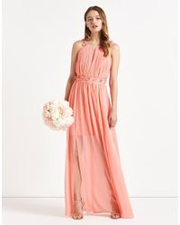 Lipsy | Pink Sienna Apron Neck Floral Embellished Maxi Dress | Lyst