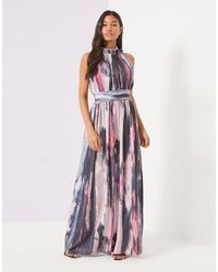 Little Mistress | Pink Marble Print Maxi Dress | Lyst
