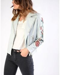 Glamorous | Blue Studded Embroidered Jacket | Lyst