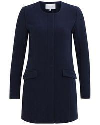 Vila   Blue Long Sleeve Jacket   Lyst