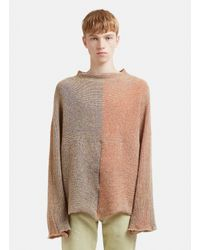 Eckhaus Latta - Brown Patched Dolman Sweater In Multi for Men - Lyst