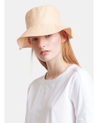 Clyde - Natural Womens Short Brim Dome Angora Hat - Lyst