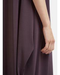Issey Miyake - Gray Double Stream Drape Jersey Dress In Grey - Lyst
