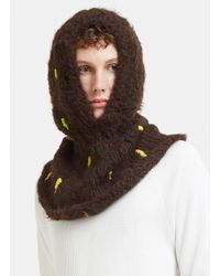Anntian - Abstract Hand-stitched Embroidery Hood In Brown - Lyst