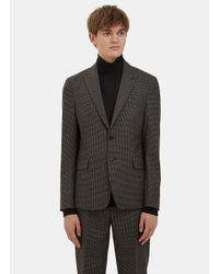 Acne Studios - Gray Men's Stanley Checked Blazer Jacket In Grey for Men - Lyst