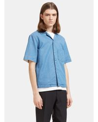 Acne | Men's Elm Short Sleeved Denim Shirt In Blue for Men | Lyst