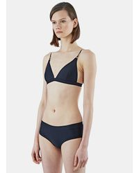 Acne Studios - Women's Hedea Triangle Bikini Top In Black - Lyst
