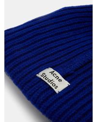 Acne Studios - Women's Pansy Wool Knit Hat In Blue - Lyst