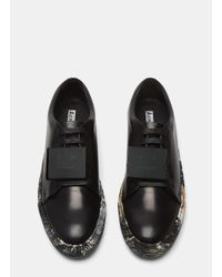 Acne Studios - Black Adriana Leather Sneakers - Lyst